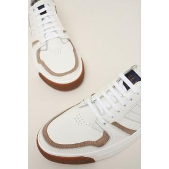 Zapatillas de piel blancas...
