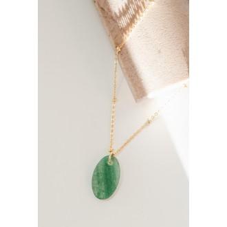 Gargantilla piedra verde...